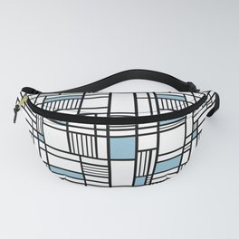 Map Lines Sky Blue Fanny Pack