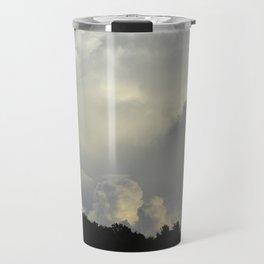 White Cloudscape Travel Mug