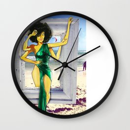 Coco in Tulum Wall Clock