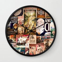 Circus Collage Wall Clock