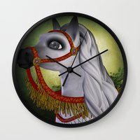 carousel Wall Clocks featuring Carousel by Texnotropio