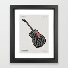 MARTIN GUITAR FACTORY TOUR Framed Art Print
