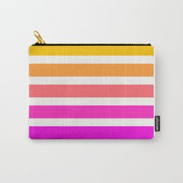 Pastel Sunset Stripes Geometric Art Print, Graphic Design, Sunset Palette Carry-All Pouch