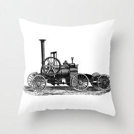 Steam car Throw Pillow