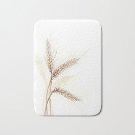 Wheat (Watercolor painting) Bath Mat