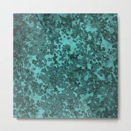 Turquoise Blue Hybrid Camo Pattern Metal Print