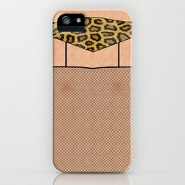 Fishnet Stockings and Leopard Skin Knickers iPhone Case