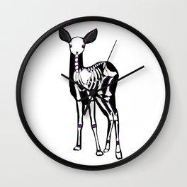 Dia De Ciervo Clave Wall Clock