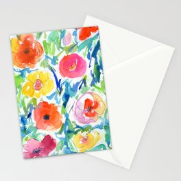 loose style flowers N.o 2 Stationery Cards