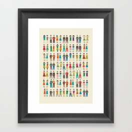 Identical Twins Framed Art Print