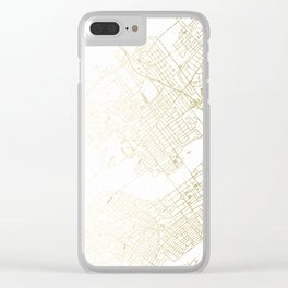 Wilkes-Barre Gold and White Map Clear iPhone Case