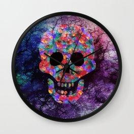 Happy skull Wall Clock