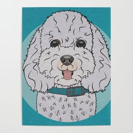 Icons of the Dog Park Bichon Frise  Design in Bold Colors for Pet Lovers Poster