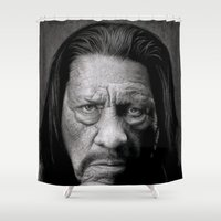 danny ivan Shower Curtains featuring Danny Trejo by Giampaolo Casarini