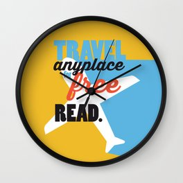 Travel - Just Read Wall Clock
