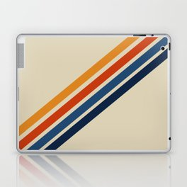 Retro 70s Stripe Colorful Rainbow Tan Classic Vintage Laptop & iPad Skin