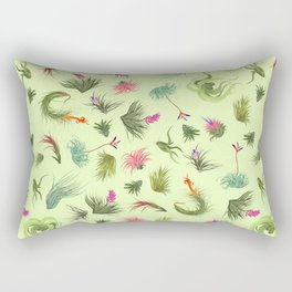 Air plants off white background Rectangular Pillow