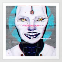 glados Art Prints featuring Still Alive by humau