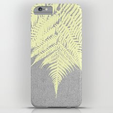 Concrete Fern Yellow iPhone 6 Plus Slim Case