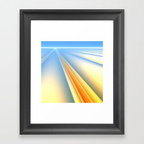 The Blinding Light of Day Framed Art Print