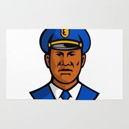 African American Policeman Mascot Rug