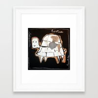 turtle Framed Art Prints featuring turtle by woman