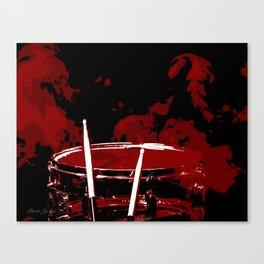 RED SMOKE DARK Canvas Print