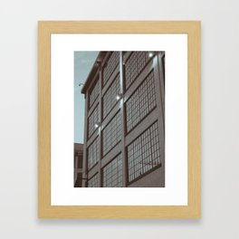 industrial architecture Framed Art Print