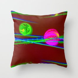 Where they are rolling to? ... Throw Pillow