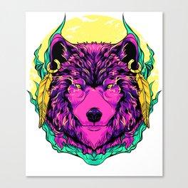 Werewolf Fierce Wolf Mythical Creature Majestic Canvas Print