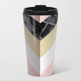 Chevron Pattern 1. Marble and Glitter #decor #buyart Travel Mug