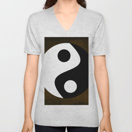 Yin and Yang - Brown Unisex V-Neck