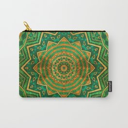 Jade Mandala Carry-All Pouch