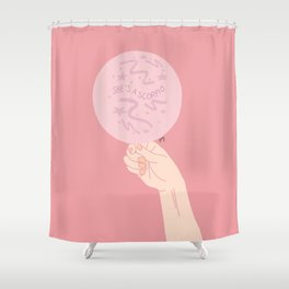 Oh She's A Scorpio Shower Curtain