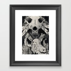 Little Pig, Let Me In Framed Art Print
