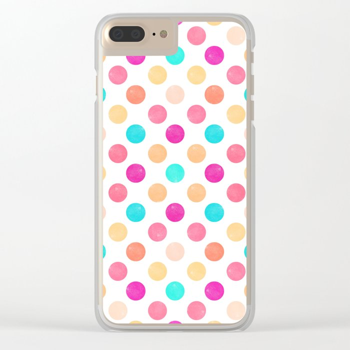 Dots Pattern VII Clear iPhone Case
