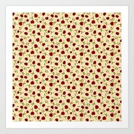 Rosas rojas Art Print