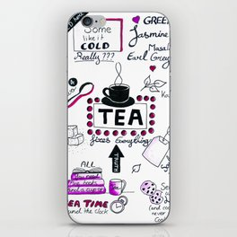For the love of tea iPhone Skin