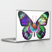 lsd Laptop & iPad Skins featuring LSD butterfly by Pink Eyed Paranoia