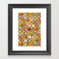 parava retro diagonal Framed Art Print