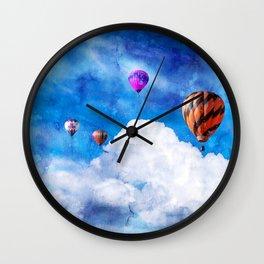 Balloons Clouds Wall Clock