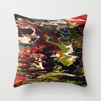 acid Throw Pillows featuring Acid by Jordan Luckow