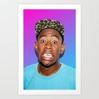 tyler spangler Art Prints featuring Tyler! by Trash Boat