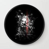 jennifer lawrence Wall Clocks featuring Jennifer Lawrence III by Rene Alberto