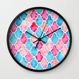 Colorful Moroccan style pattern Wall Clock