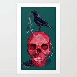 Music Skull Art Print