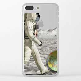 Moon Shot #collage Clear iPhone Case