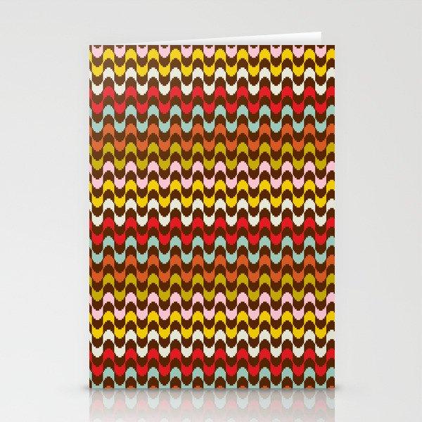 Mod Stripe Pattern Stationery Cards