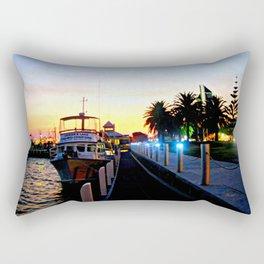Night falls over lake Entrance Rectangular Pillow