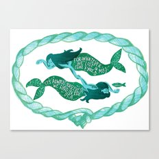 it's always ourselves we find in the sea Canvas Print